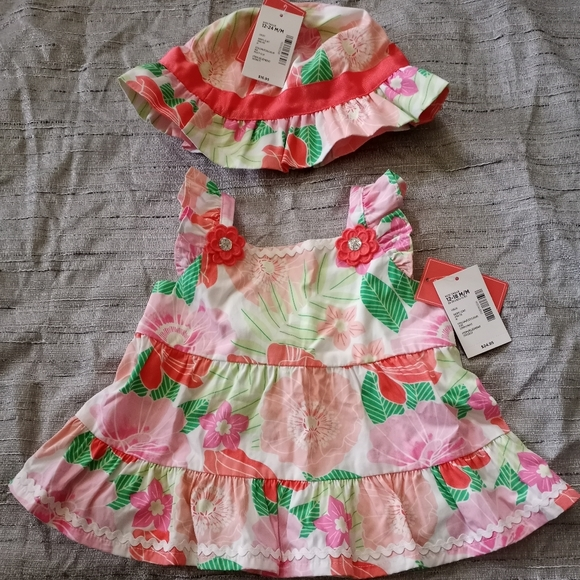 Infant dress and hat